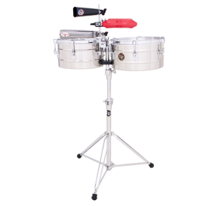 LP Timbales Tito Puente Stainless Steel LP255-S...