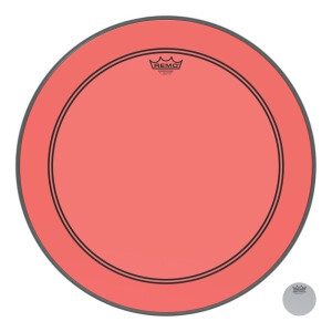 Remo Colortone Powerstroke 3 clear P3-1322-CT-RD Rot...