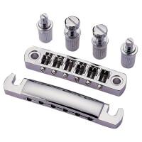 Partsland E-Gitarrensteg Steg/Saitenhalter verchromt