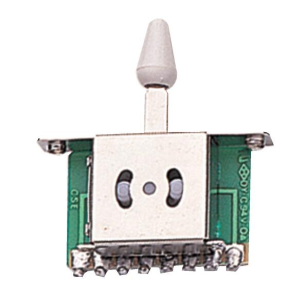 Partsland Schalter 3-Weg weißer Knopf