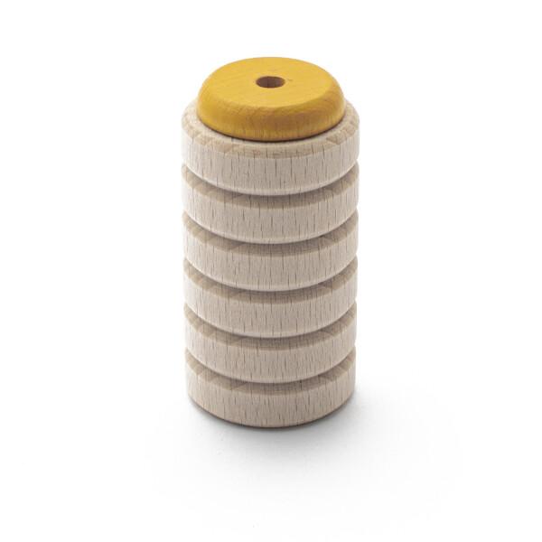 Rohema Glöckchenshaker gelb gefüllt mit großer Glocke