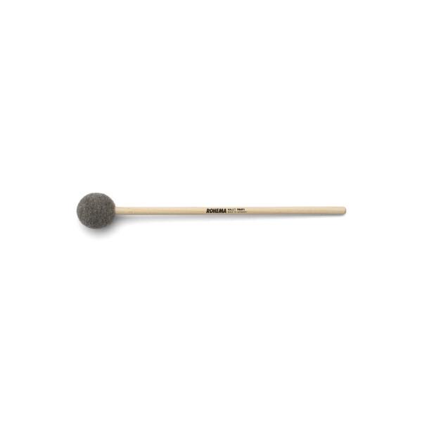 Rohema Tambourinschlägel 35mm, Vollfilz grau, langer Holzstiel