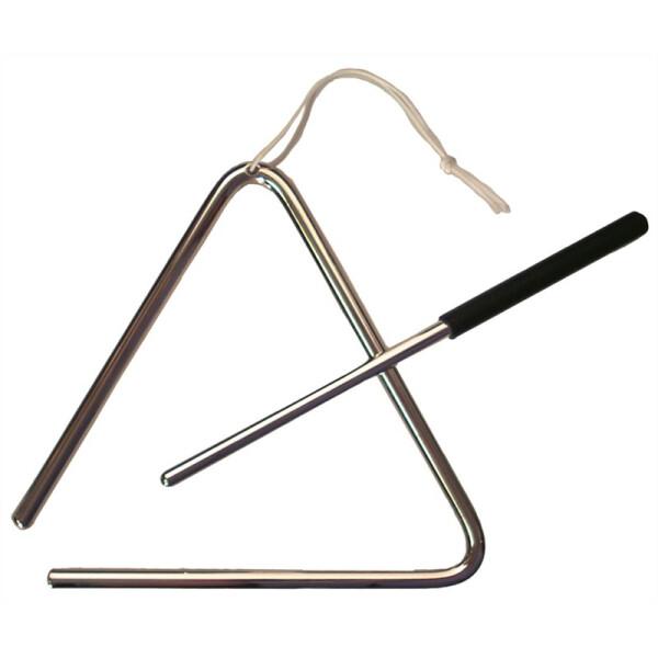 Rubner Triangel 6mm Tonstahl 10cm mit Schlaufe und Schlägel