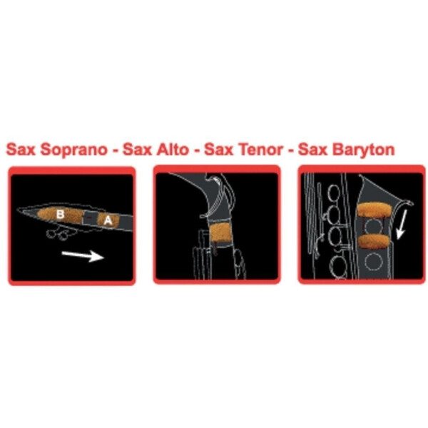 Saxmute Tenor-Saxophon Dämpfer
