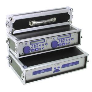 Roadinger Doppel-CD-Player-Case Tour Pro, 2HE, sw