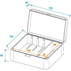 Roadinger Plattenspielersystem-Case für 3 Systeme
