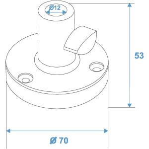 Omnitronic Halter Typ B für Tisch-Mikrofonarm sw